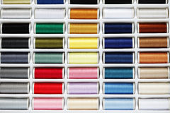Sewing thread set Stock Photo