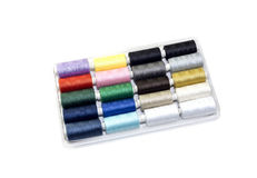 Sewing thread set royalty free stock images