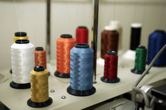 Sewing Thread Spools Stock Image