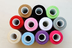 Sewing threads as a multicolored background Royalty Free Stock Photos
