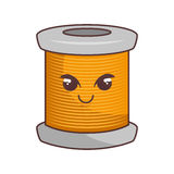 Sewing threads comic character isolated icon Stock Image