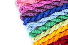 Sewing threads for embroidery Royalty Free Stock Photos