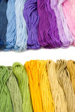 Sewing threads for embroidery on white background Stock Photos