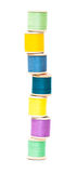 Sewing threads haphazardly stacked Royalty Free Stock Photo