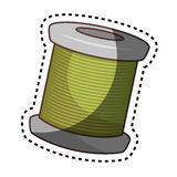 Sewing threads isolated icon Royalty Free Stock Images