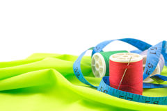 Sewing threads, meter Stock Image