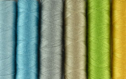Sewing threads multicolored background Stock Images