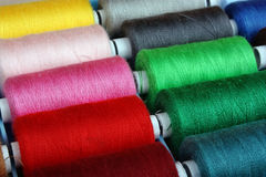 Sewing threads multicolored Royalty Free Stock Images