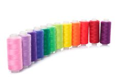 Sewing threads Stock Photo