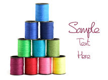 Sewing threads multicolored Royalty Free Stock Photos