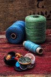 Sewing threads Stock Images