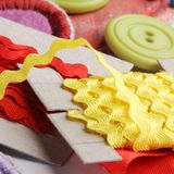 Sewing tool. Close-up of sewing tools royalty free stock photos