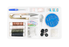 Sewing tool set isolated Stock Photos