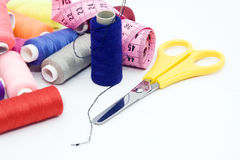 Sewing tools Royalty Free Stock Photos