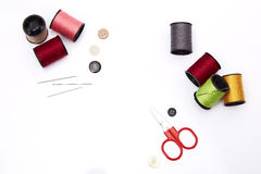 Sewing tools and accesories Royalty Free Stock Images