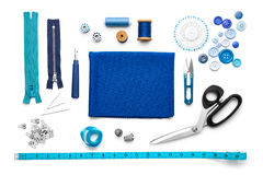 Sewing Tools and Accessories Royalty Free Stock Images