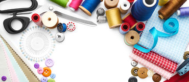 Sewing Tools and Accessories Stock Images