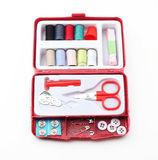 Sewing tools box Stock Images