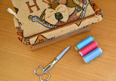 Sewing tools and fashion design Stock Photos