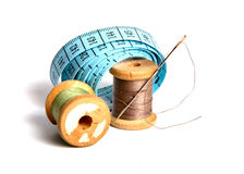 Sewing tools. Tools for sewing and handmade royalty free stock images