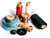 Sewing tools. Tools for sewing and handmade royalty free stock photos