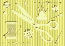 Sewing tools icons Stock Images