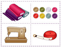 Sewing Tools, Pantone Colors Royalty Free Stock Images