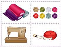 Sewing Tools, Pantone Colors royalty free illustration