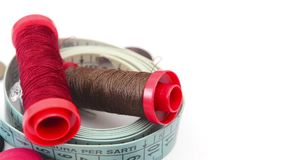 Sewing tools rotating stock footage