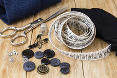 Sewing tools and sewing kit Stock Photography