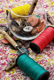 Sewing tools Royalty Free Stock Photo