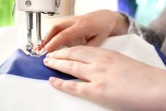 Sewing underwear.
