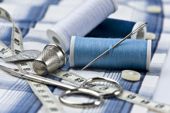 Sewing utensils Royalty Free Stock Images