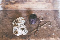 Sewing utensils Stock Images