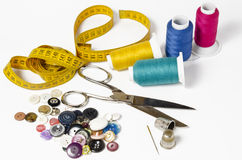 Sewing utensils Stock Photo