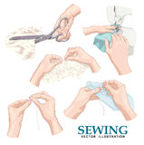 Sewing. Vector set. Royalty Free Stock Photography