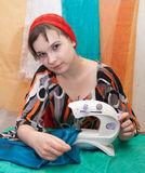 Sewing woman Royalty Free Stock Photo