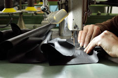 Sewing woman hands Royalty Free Stock Photo