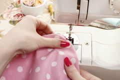 Sewing woman Royalty Free Stock Photos