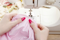 Sewing woman Stock Photography