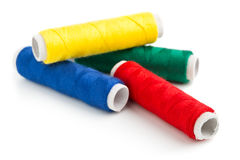 Sewing yarn rolls Stock Image