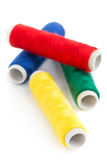 Sewing yarn rolls Royalty Free Stock Images