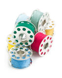 Sewing yarn spools Stock Photos