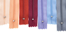 Sewing zippers Stock Photo