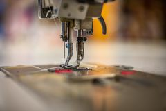 Walking foot sewing machine royalty free stock photos