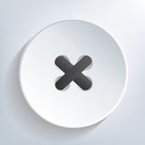 Sewn button Royalty Free Stock Photo