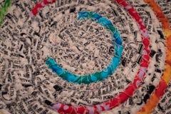 Sewn Circles of Fabric Royalty Free Stock Image