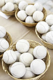 Sewn leather balls Stock Images