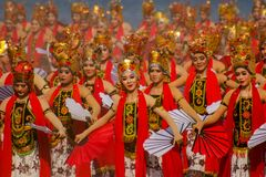 Free Sewu Gandrung Traditional Dance From Banyuwangi East Java Indonesia Royalty Free Stock Images - 182929779