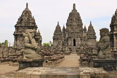 Sewu Temple is the second largest Buddhist temple complex in Java; stock photography
